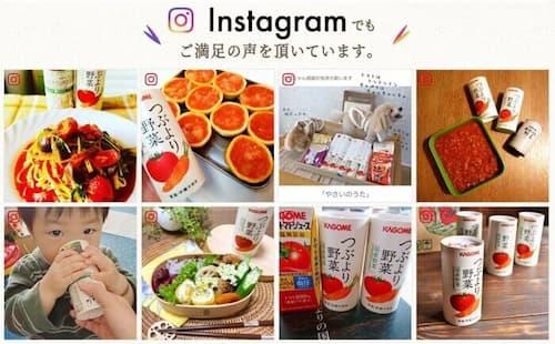 Instagramの口コミで話題のカゴメ「つぶより野菜」
